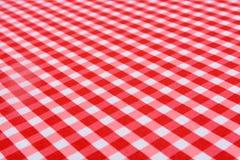 Klassisk röd tabelltorkduk Arkivfoto