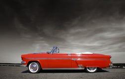 klassisk red för bil Royaltyfri Foto