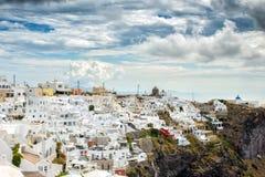 Klassisk Santorini plats, Grekland Arkivfoto