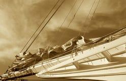 klassisk segelbåt royaltyfri fotografi