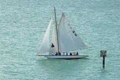 Klassisk segelbåt Bodensee Arkivfoton
