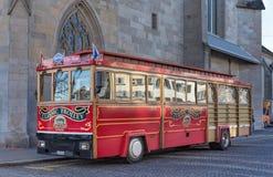 Klassisk spårvagn i Zurich Royaltyfri Bild