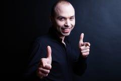 Klassisk stående av en trevlig ung man Fotografering för Bildbyråer