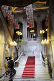 Klassisk stad Hall Marble Staircase Arkivfoton