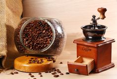 Klassisk stil av kaffekvarnen Royaltyfri Bild