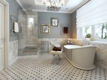 Klassisk stil för badrum royaltyfria foton