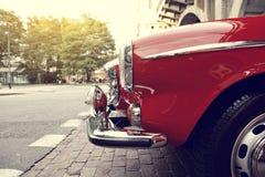 Klassisk svensk bil Arkivfoto