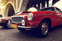 Klassisk svensk bil Arkivbilder