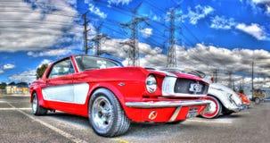 Klassisk 60-tal Ford Mustang Arkivfoto