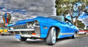 Klassisk 60-talamerikan Chevy Impala Royaltyfri Fotografi