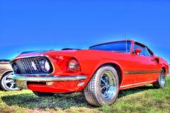 Klassisk 70-talamerikan Ford Mustang Fotografering för Bildbyråer