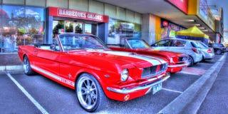 Klassisk 60-talamerikan Ford Mustang Fotografering för Bildbyråer