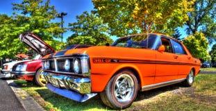 Klassisk 70-talaustralier Ford Falcon Arkivbild