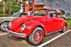 Klassisk 70-taltysk Volkswagen Beetle Arkivbilder