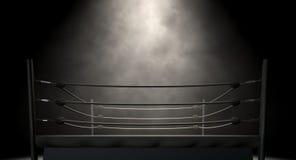 Klassisk tappningboxningsring Arkivbilder