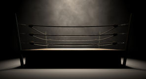 Klassisk tappningboxningsring Arkivfoto