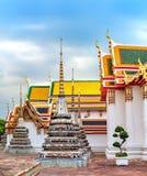 Klassisk thailändsk arkitektur av Wat Pho, Thailand Arkivfoton