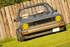 Klassisk tysk bil, Volkswagen Golf Royaltyfria Foton