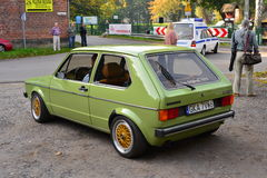 Klassisk tysk bil Volkswagen Golf I Royaltyfria Bilder