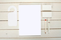 Klassisk vit malldesign för företags identitet Affärsstati royaltyfria foton