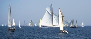Klassisk yachtregatta Royaltyfria Bilder