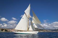 Klassisk yachtregatta - Gaff skärare ' MÅNSTRÅLE III' Royaltyfri Fotografi
