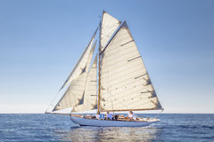 Klassisk yachtregatta - Gaff skärare ' STAR' 1907 Arkivfoton