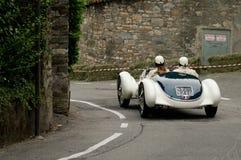Klassiska Alfa Romeo på Bergamo den historiska granda prixen 2015 Royaltyfria Bilder