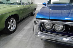 Klassiska amerikanska bilar Royaltyfri Bild