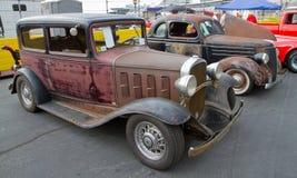 Klassiska amerikanska bilar Royaltyfria Bilder