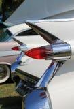 Klassiska amerikanska bilsvanslampor Arkivfoto