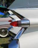 Klassiska amerikanska bilsvanslampor Arkivbild