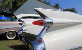 Klassiska amerikanska bilsvanslampor och fena Royaltyfri Foto