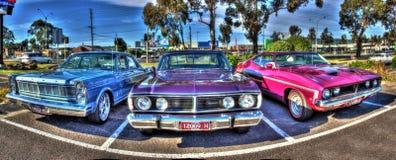 Klassiska australiska bilar Arkivfoto
