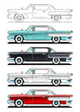 Klassiska bilar - 60-tal Arkivfoto