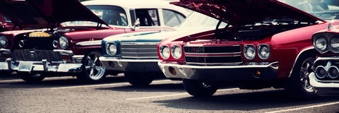 klassiska bilar Arkivbild