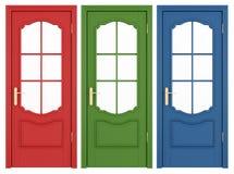 klassiska dörrar royaltyfri illustrationer