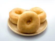Klassiska donuts på med bakgrund, inget socker Fotografering för Bildbyråer