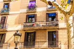 Klassiska gamla balkonger royaltyfria foton
