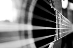 Klassiska gitarrrader royaltyfria bilder