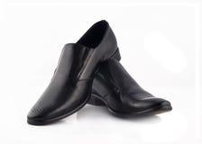 klassiska isolerade lädermän över s shoes white Royaltyfria Bilder