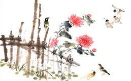 Klassiska Kina-- natur fågel Royaltyfri Fotografi
