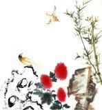 Klassiska Kina-- natur fågel Arkivbilder