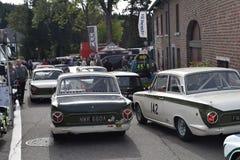 Klassiska Lotus Cortina som är klar att springa Royaltyfri Foto