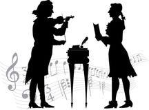 Klassiska musiker Fotografering för Bildbyråer