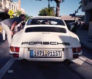 Klassiska Porsche 911 på en bilshow royaltyfri foto