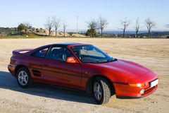 klassiska röda sportar för bil Royaltyfria Bilder