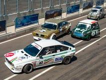 Klassiska racerbilar Fotografering för Bildbyråer