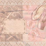 Klassiska rosa baletthäftklammermatare med rosor Arkivfoton