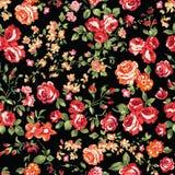 Klassiska rosor på svart Arkivbilder